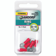 Jandorf 60973 Terminal Ring 22-18 Vinyl Insulated N8