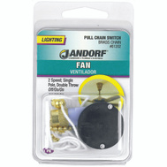 Jandorf 61202 Switch Pull Chain Brass Off/On/On