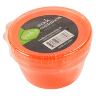 FLP 8860-OR Cooks Kitchen Orange Snack Container 2 Pack