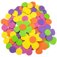 FLP 9907DaisyDots Creative Options 70 Count Mini Foam Floral & Dots In Multiple Colors