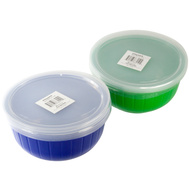 FLP 8010 Easy Pack 11 Fluid Ounce Round Plastic Storage Containers With Lids - Assorted Colors