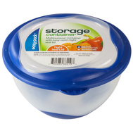 FLP 8019 Easy Pack 20 Fluid Ounce Round Storage Containers Random Color Trim