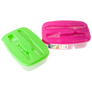 FLP 8025 Easy Pack Container Knife/ Fork Assorted Colors