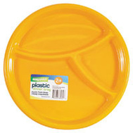 FLP 8032 Easy Pack Plastic 3 Section Tray 2Pk Assorted Colors