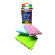 FLP 8820 Clean Touch Multi Colored Scrubbing Sponges Pack Of 3 Assorted Colors