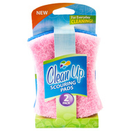 FLP 8845 Clean Up Multi Colored Scouring Pads Pack Of 2 Assorted Colors