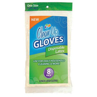 FLP 8879 Clean Up Disposable Latex Gloves 8 Pack