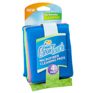 FLP 8894 Clean Touch Multi Colored Microfiber Cleaning Pads Pack Of 4