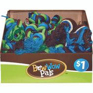 FLP 8847 Bow Wow Pals Pet Toy Asst Rope Tug Assorted Colors