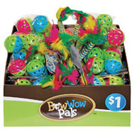 FLP 8855 Bow Wow Cat Pals Assorted Cat Toys Assorted Colors