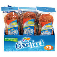 FLP 8872 Clean Touch Copper Coated Scouring Pads Pack Of 3 Assorted Colors