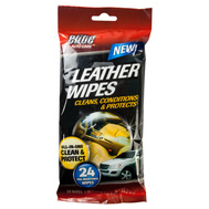 FLP 8909 Elite Auto Care Auto Leather Wipes 24 Pack