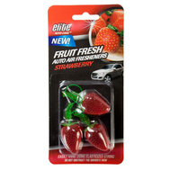 FLP 8989 Elite Auto Care Fresh Fruit Auto Air Freshener Strawberry Assorted Colors