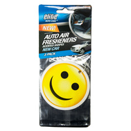 FLP 8995 Elite Auto Care Shapes 3 Pack New Car Fragrance Air Freshener Assorted Colors