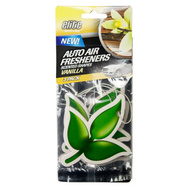 FLP 8996 Elite Auto Care Shapes 3 Pack Vanilla Air Freshener Assorted Colors