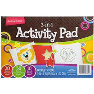 FLP 9861 Creative Options 60 Sheet Activity Pad In Random Color Paper