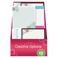 FLP 9868 Creative Options Sticky Note Pad Assorted Colors