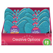 FLP 9870 Creative Options Foam Shapes 9Ct Assorted Colors
