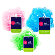 FLP 9878 Just Because Large Bath Poof Sponge Assorted Colors