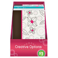FLP 9916 Creative Options 50 Sheet Note Pad Assorted Colors