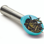 Epoca PISTE-2101 Primula Measuring Scoop And Tea Infuser Stainless Steel And Teal