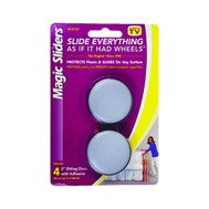 Magic Sliders 04050 Round Furniture Glides Self Adhesive 2 Inch Pack Of 4