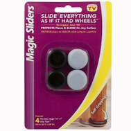 Magic Sliders 04225 7/8 To 1 Inch 22-25 Mm Round Stretch Tip Sliders Pack Of 4
