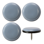 Magic Sliders 04301 Nail In Gray Sliders 1-3/16 Inch Round 4 Pack