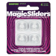 Magic Sliders 74310 7/8 Inch Clr Bumpers 4 Pack