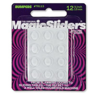 Magic Sliders 76113 1/2 Inch Clr Bumpers 12 Pack