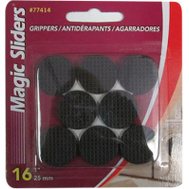 Magic Sliders 77414 1 Inch Round Gripper Pad (Pack Of 16)