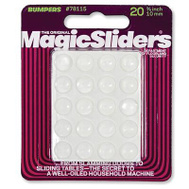 Magic Sliders 78115 3/8 Inch Clr Bumpers 20 Pack