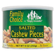Ruckers Candy 808 Family Choice Cashew Pieces 9 Ounce