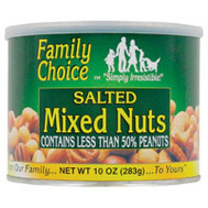 Ruckers Candy 813 Family Choice Mixed Nuts 10 Ounce