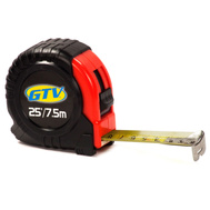 GTV GTV25X1 1 Inch By 25 Foot English Metric Cushioned Grip Locking Tape Ruler