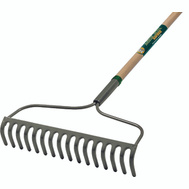 Landscapers Select 34582 Bow Rake 16 Tine Wood Handle