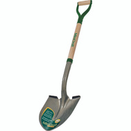 Landscapers Select 34593 D Handle Round Point Shovel Wood Handle
