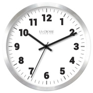 La Crosse 404-2626 10 Inch SLV MTL Wall Clock