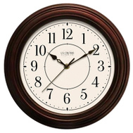 La Crosse 404-2630W 12 Inch Faux WD Wall Clock