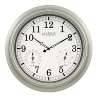 La Crosse WT-3181PL-Q Analog Clock Quartz Indoor/Outdoor 18 Inch