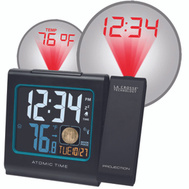 La Crosse 616-146A Clock Alarm Atomic With Temp Date