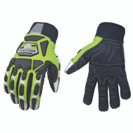 Youngstown Glove 09-9060-10-XL Finger Protect Hi-Vis Mechanics Gloves Extra-Large