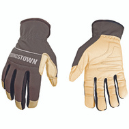 Youngstown Glove 12-3180-70-L Performance Goatskin And Mesh Gloves Gray Large
