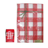 J & M Home 80284 52X90 RED Tablecloth