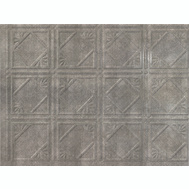 ACP D6121 18 By 24 Inch Backsplash Panel Cross Hatch Silver