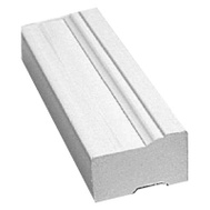 Inteplast Building Products 635-0700-986 7 Foot Pvc White Brickmould