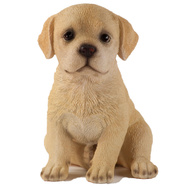 Border Concepts 83409 6-1/2 Inch Yellow Labrador Retriever Puppy Statue