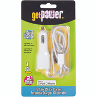 Aries GP-PCUSB-IPH5 GetPower MFI Certified Vehicle Charging Cable - Apple Lightning