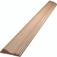 Alexandria Moulding 0W390-20096C1 11/16 By 2 5/8 Inch By 8 Foot D Chair Rail