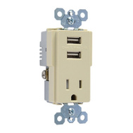 Pass & Seymour TM8USBICC6 15A IVY Combusb Charger